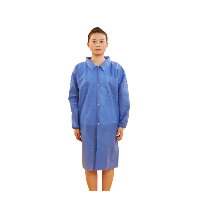 PP Blue Disposable Lab Coat