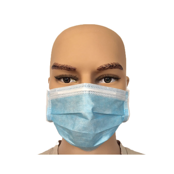 Nonwoven Blue medical Disposable Tie Face Mask