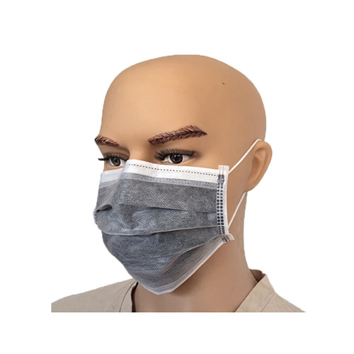 Active Carbon 4 layer gray Non-woven Face Mask