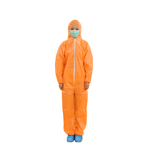 Orange Breathable Film Overalls