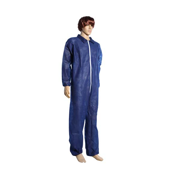 Blue 60g Polypylene Hooded Coverall