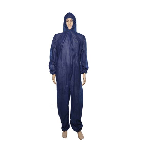 Disposable Blue PP Single Layer Coveralls