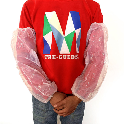 White PE long Sleeve Cover for Food industry