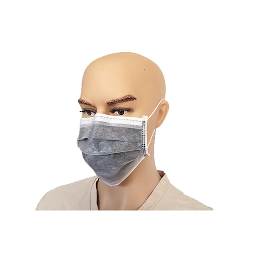 Disposable Active Carbon Gary 4 Layer Ear-loop Face Mask