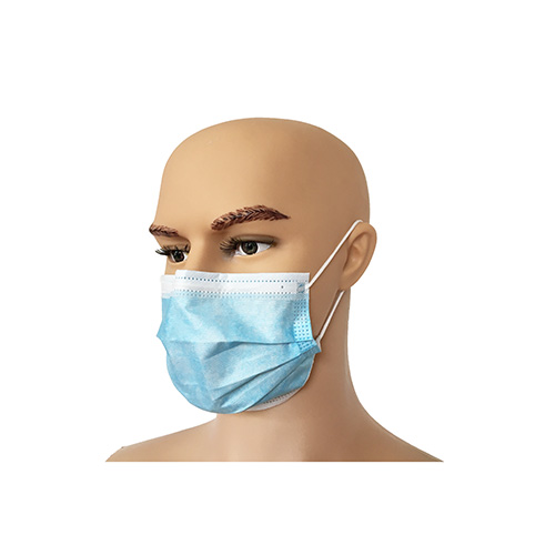 Disposable Blue Ear-tie Hospital 3 layer protective Mouth Cover