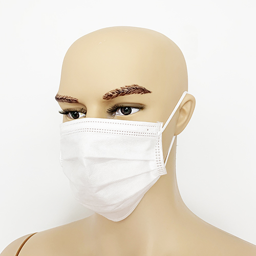 Non woven 3 ply white Disposable Surgical Mask