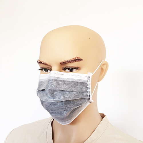 Disposable Non-woven Active Carbon Gary 4 Layer Medical Face mask